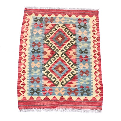 Handwoven Turkish Kilim Accent Rug