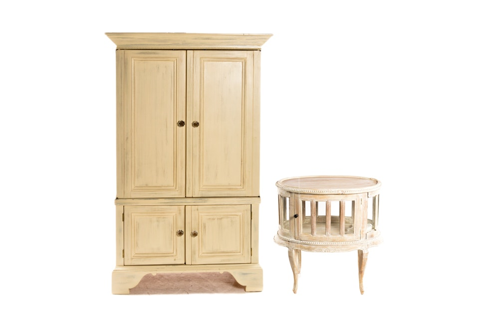 Armoire and Vitrine Side Table