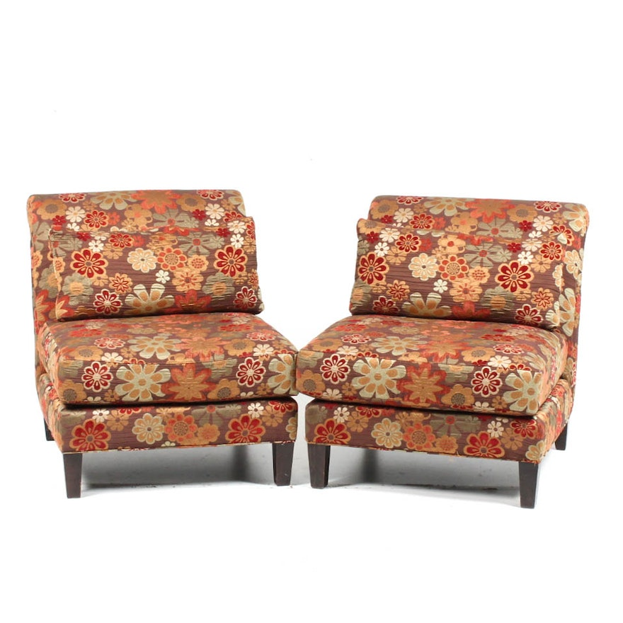Stupendous Pair Of Arhaus Furniture Slipper Chairs Download Free Architecture Designs Embacsunscenecom
