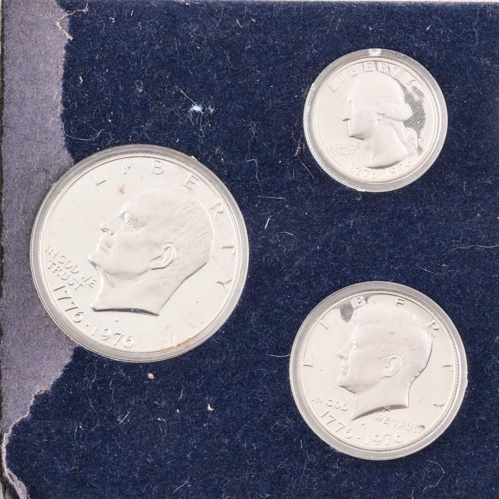 U.S. Bicentennial Three-Coin Silver Proof Set