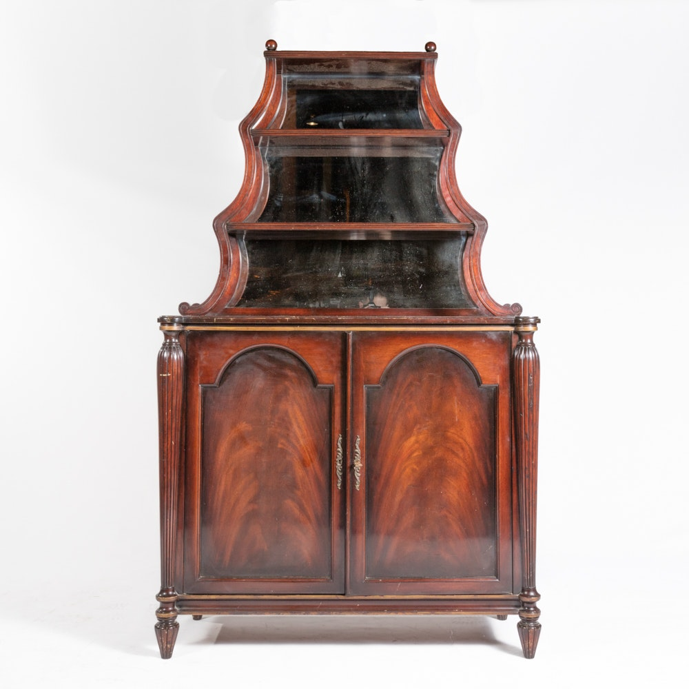 Stepped Tier-Top Mahogany Etagere