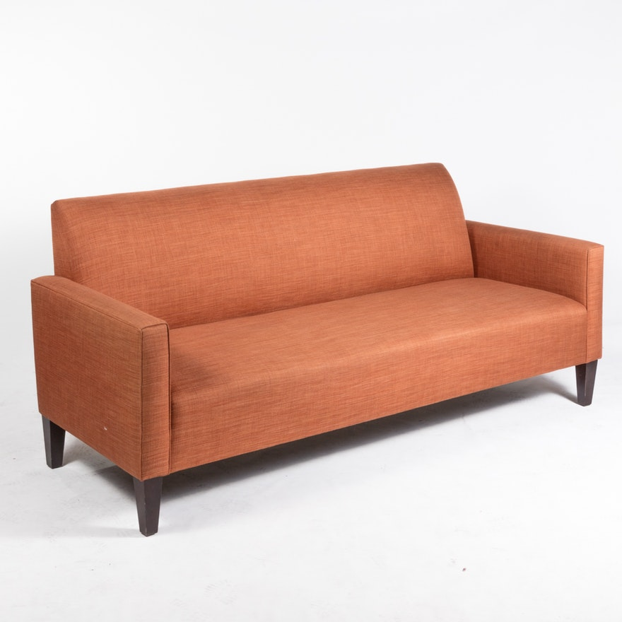 Shenandoah furniture mid century modern style sofa ebth for Mid century style couch