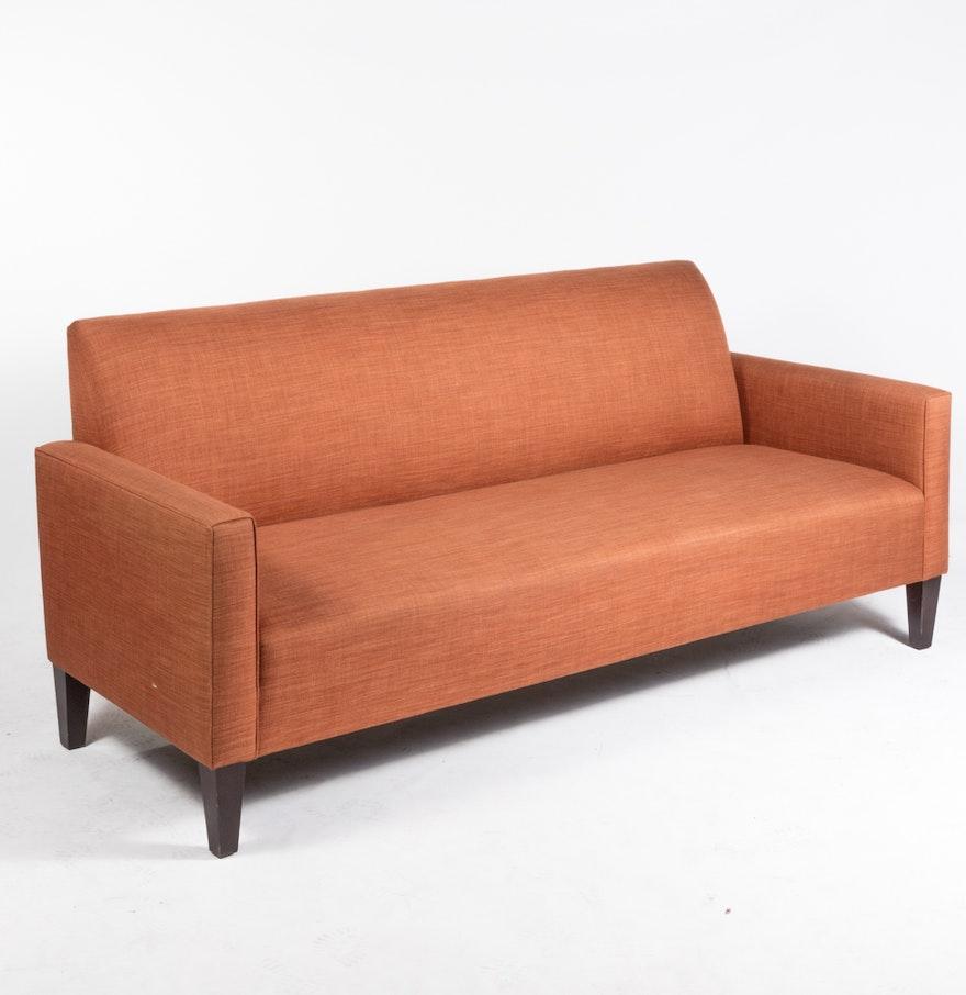 Shenandoah furniture mid century modern style sofa ebth for Mid century style furniture