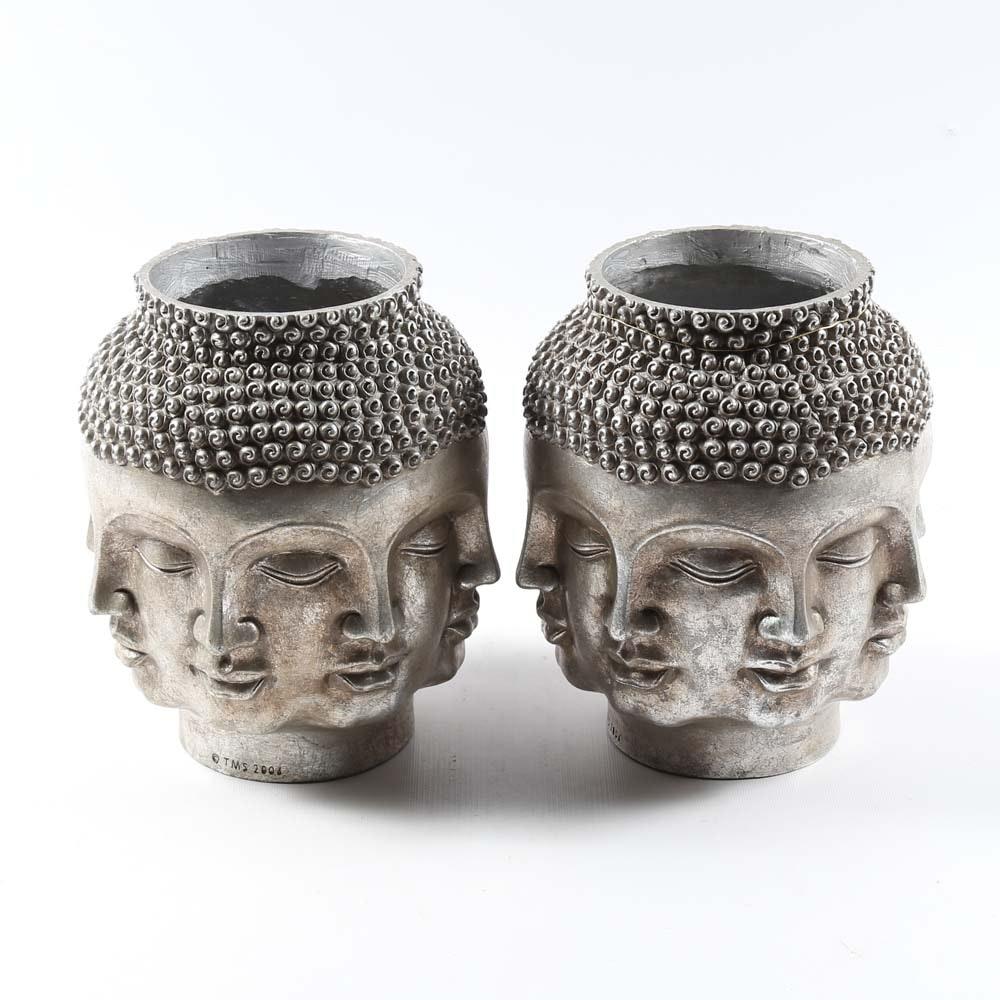 Perpetual Head Buddha Vases