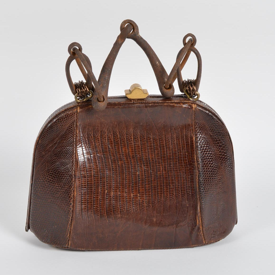 Vintage Snakeskin Handbag with Handle by Pam McMahon