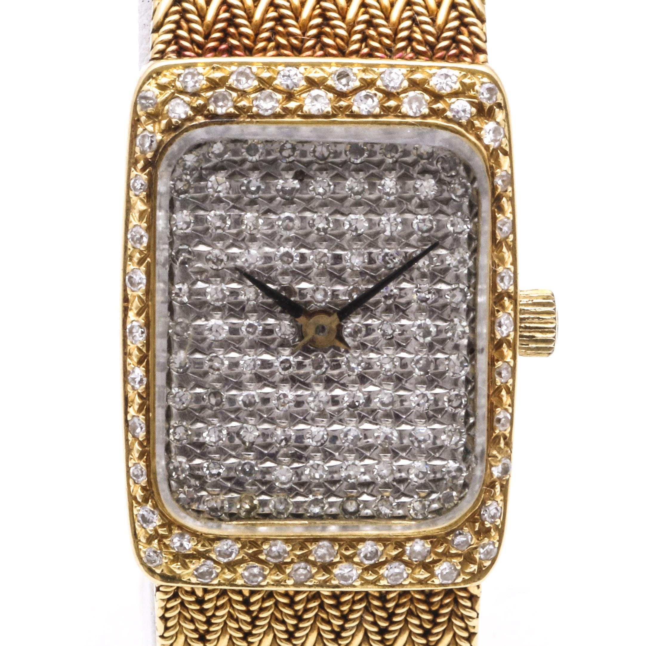 18K Yellow Gold and Diamond Universal Genève Watch