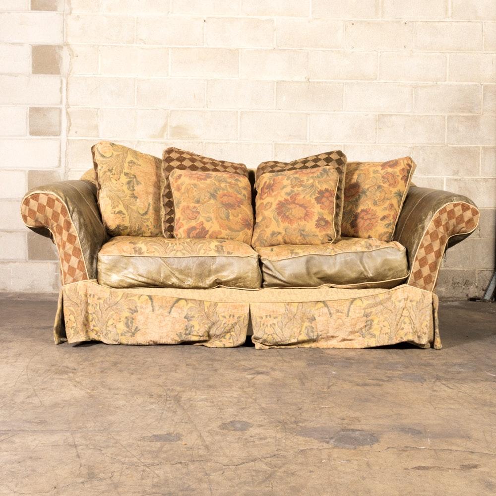 Slip-Covered Shabby Chic Sofa