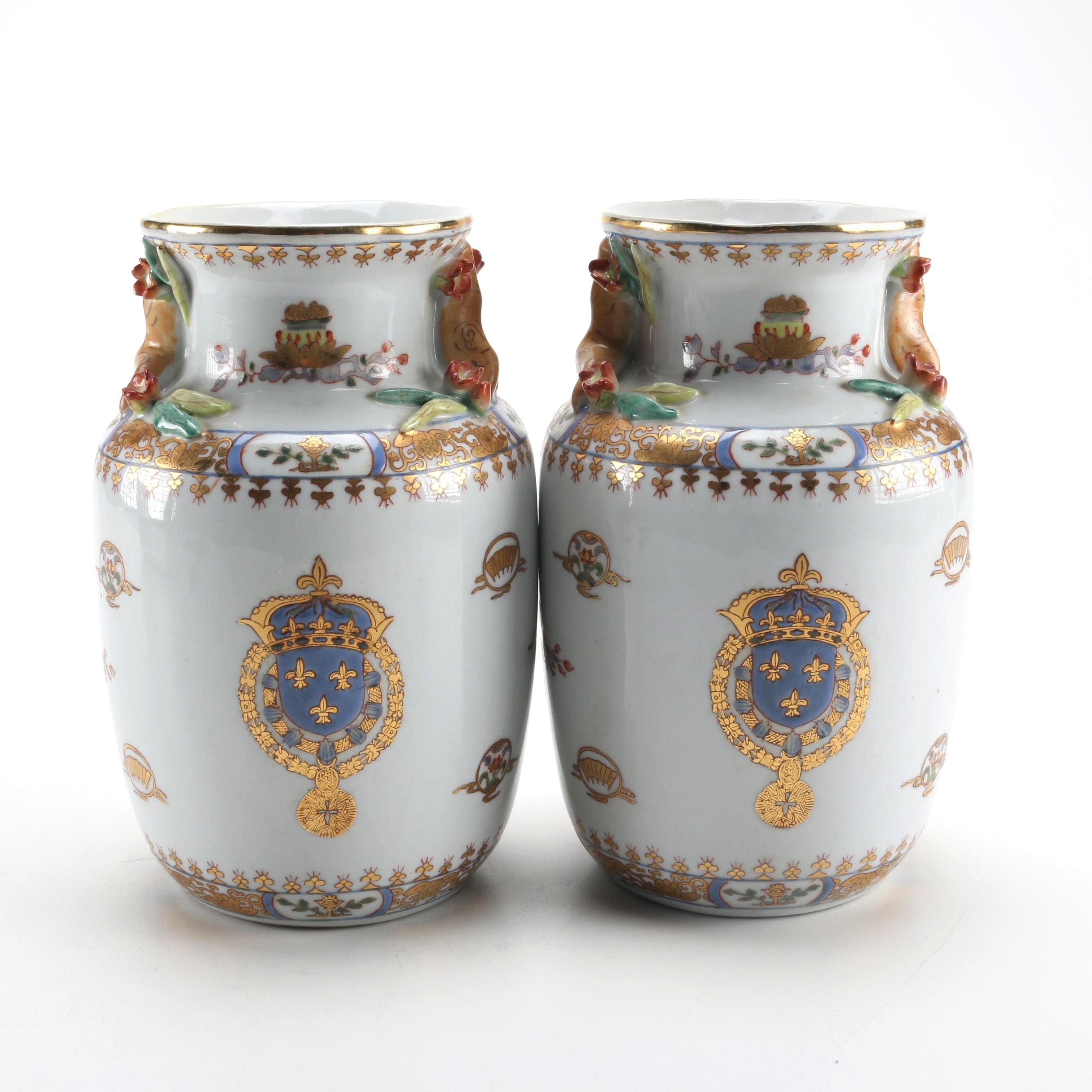 Ceramic Asian Inspired Urns