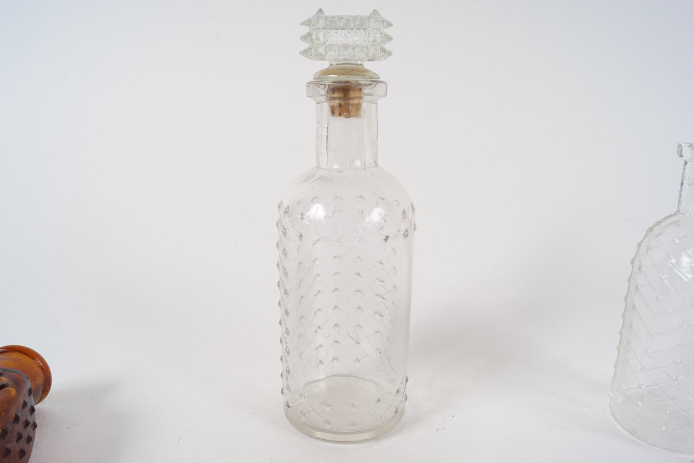 Brown Glass Bottles Square Shoulders