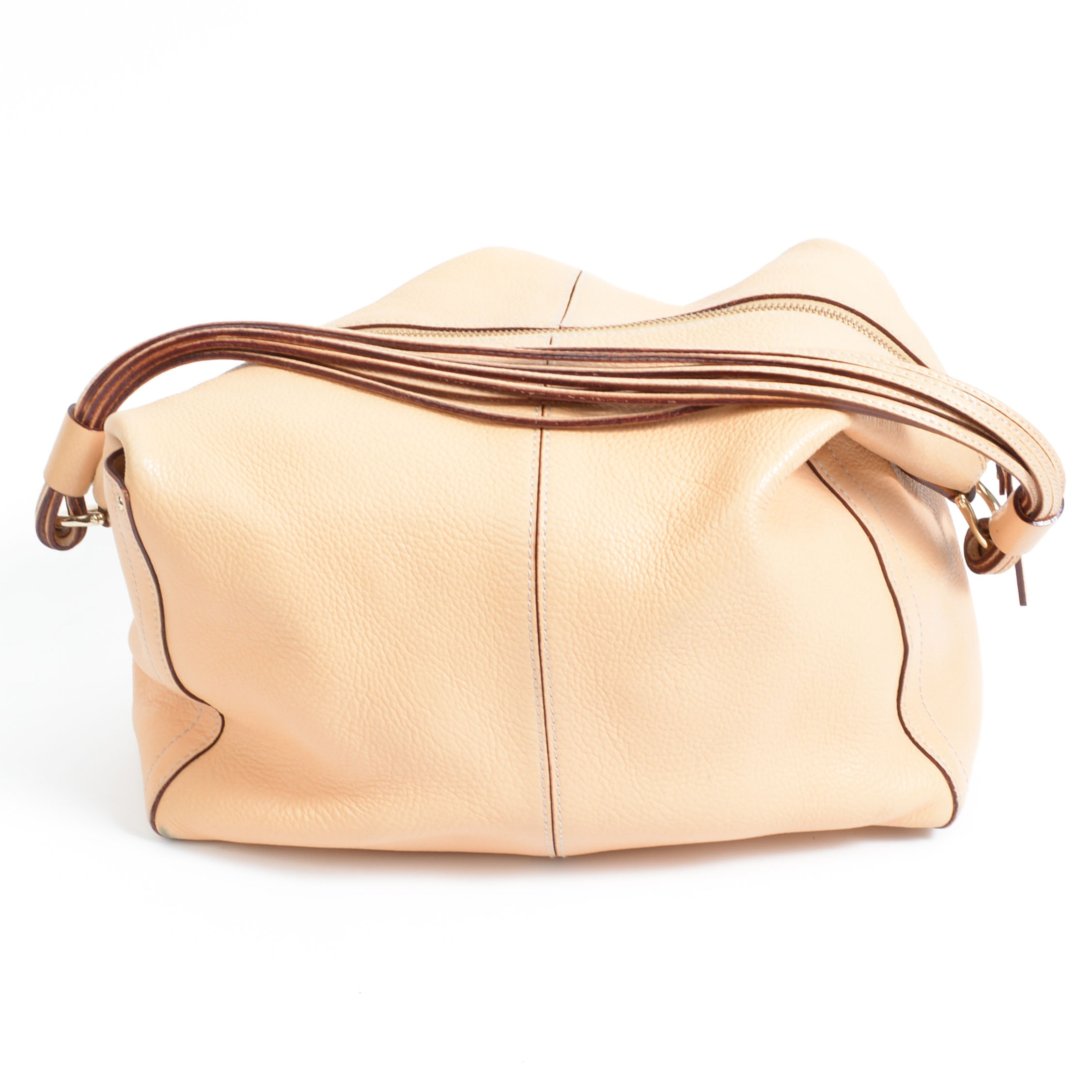 Beige Relaxed Leather Kate Spade Handbag