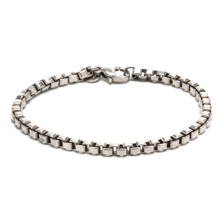 2e2641565 Tiffany & Co. Sterling Silver Box Chain Bracelet : EBTH