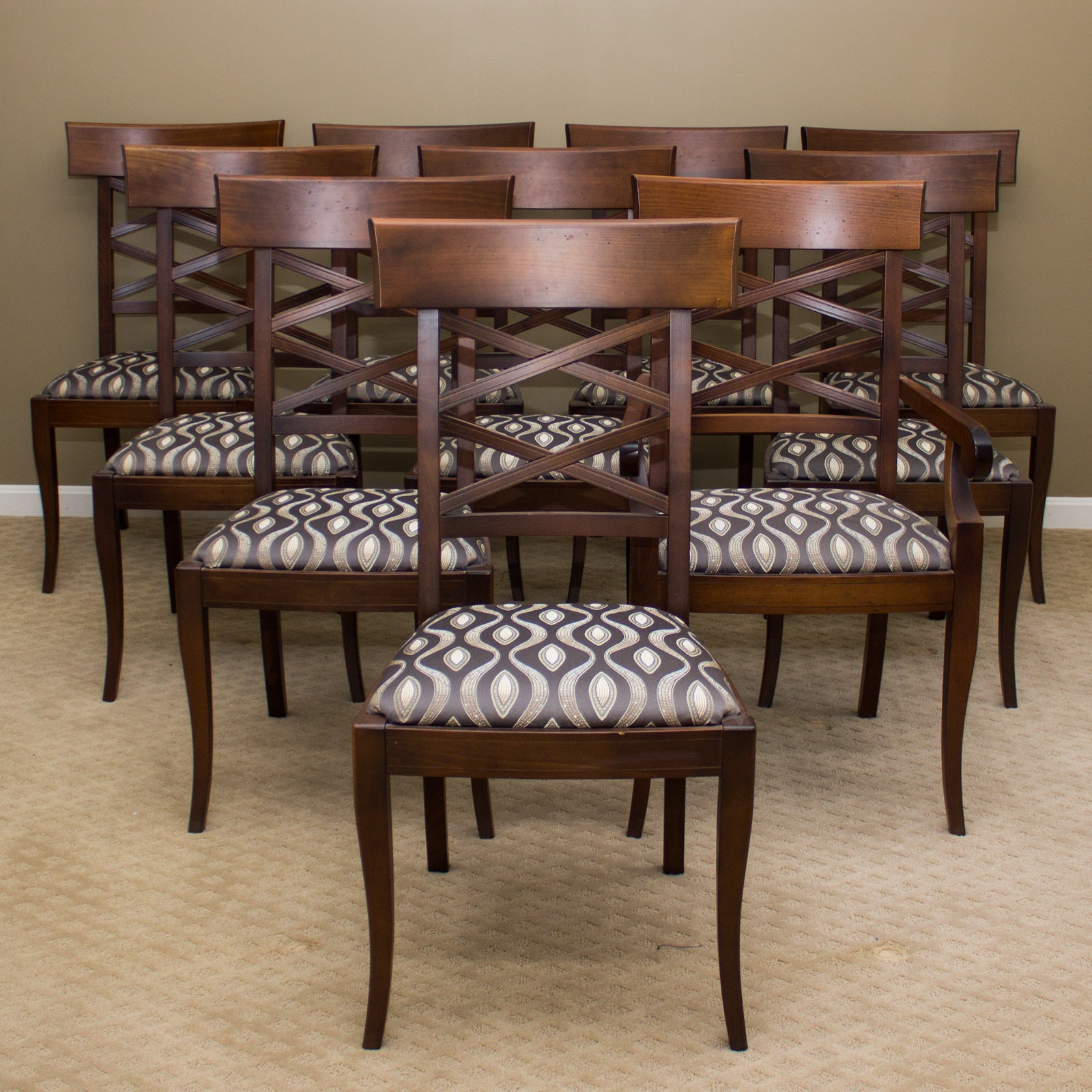 "Collection of Arhaus ""Zona"" Dining Chairs"
