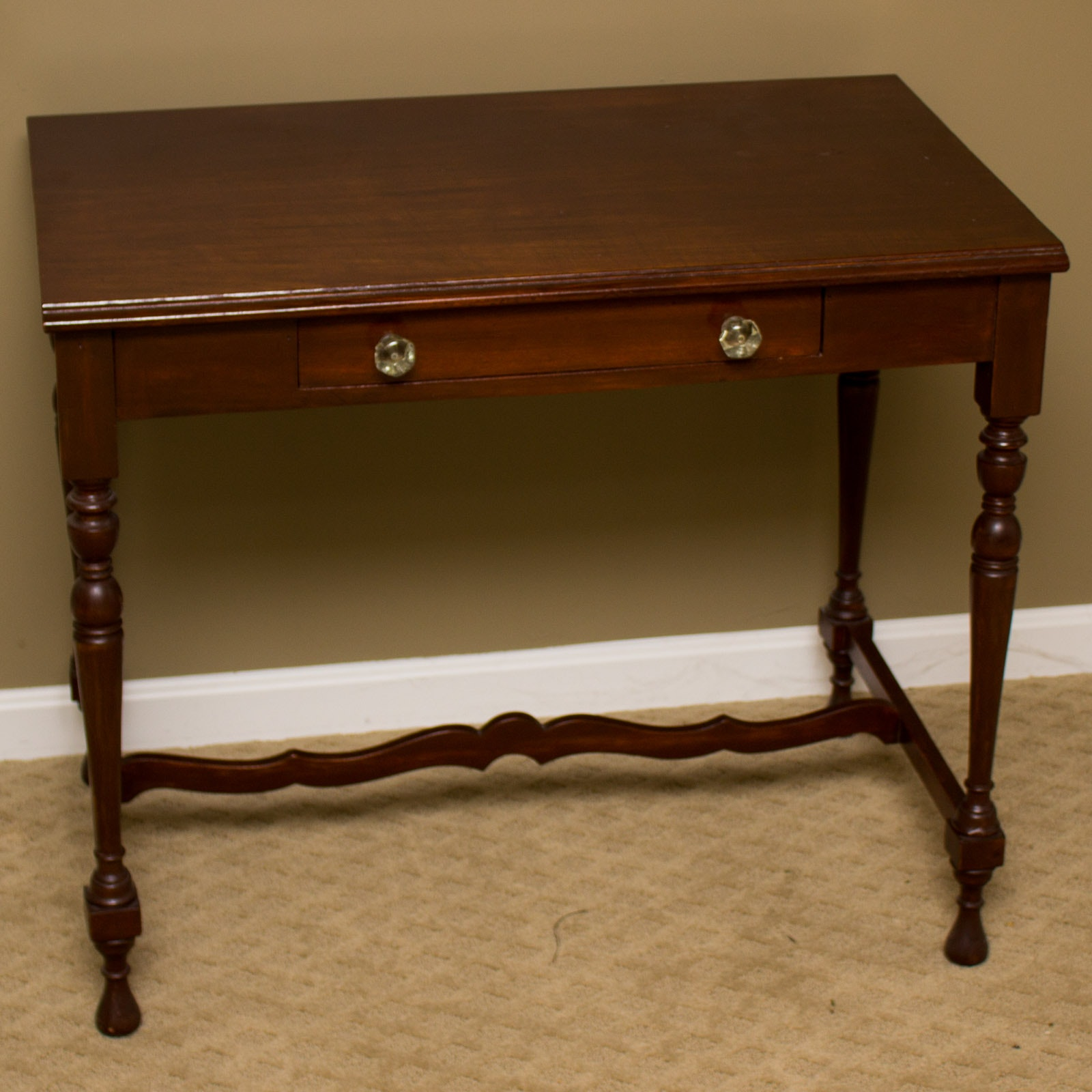 Antique Cherry Library Table