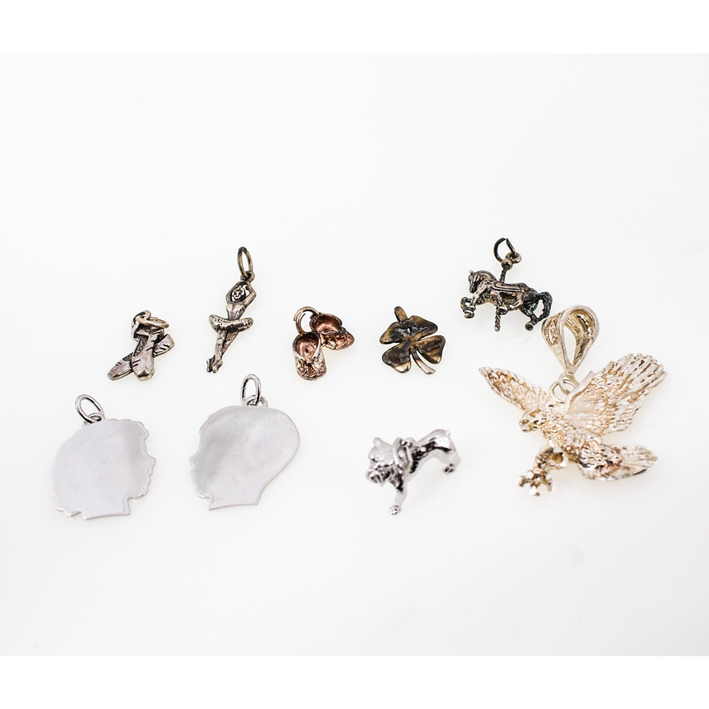 Sterling Silver Charms and Pendant Assortment