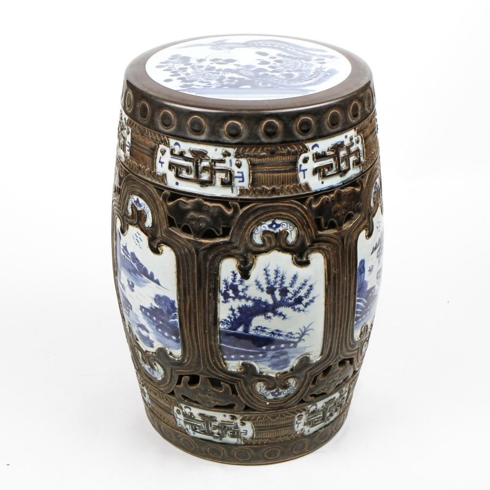 Chinese Ceramic Garden Stool ...  sc 1 st  Everything But The House : chinese stool ceramic - islam-shia.org