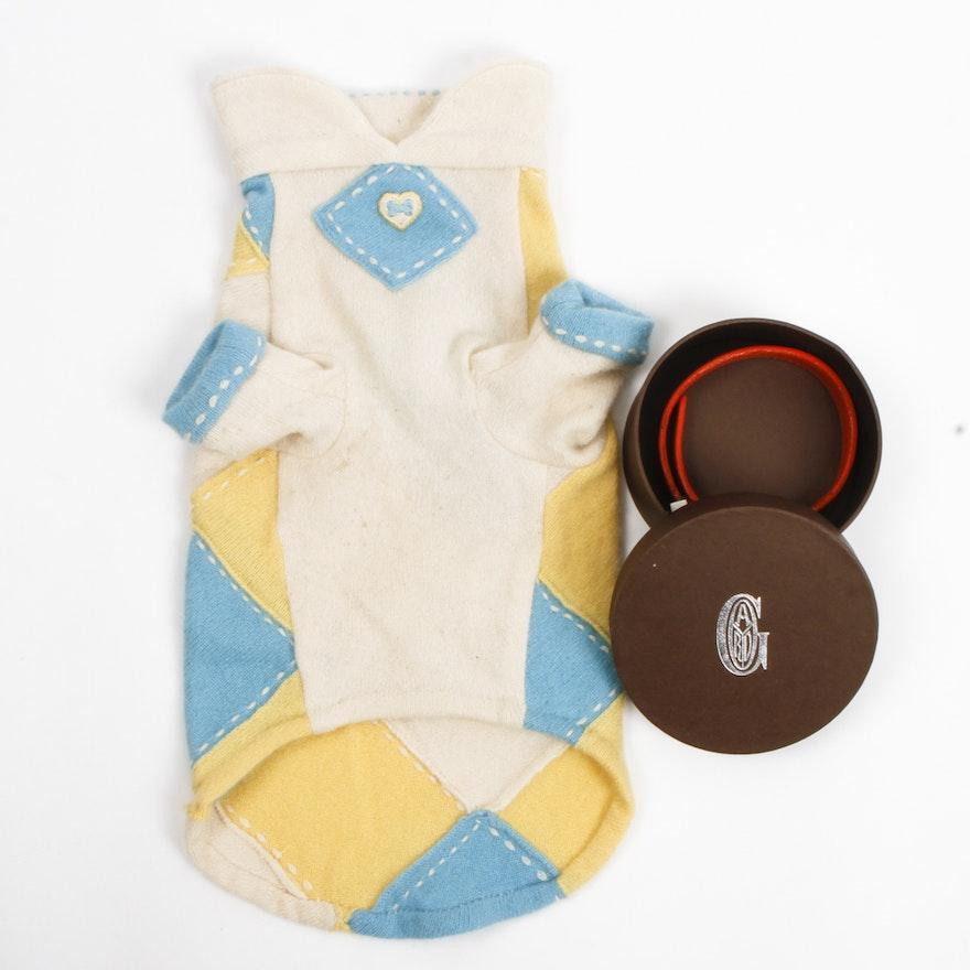 111c53aa8966 Goyard Paris Dog Collar and a Fifi & Romeo Cashmere Dog Sweater | EBTH