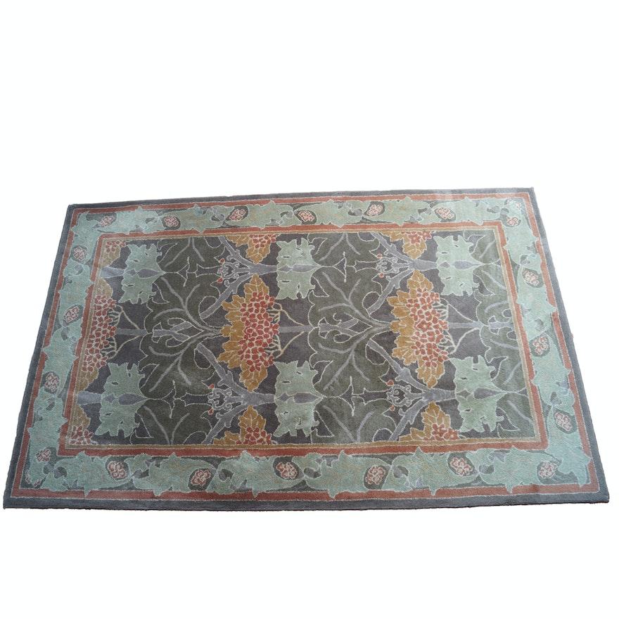 Persian Style Wool Area Rug Ebth: Art Nouveau-Style Wool Area Rug