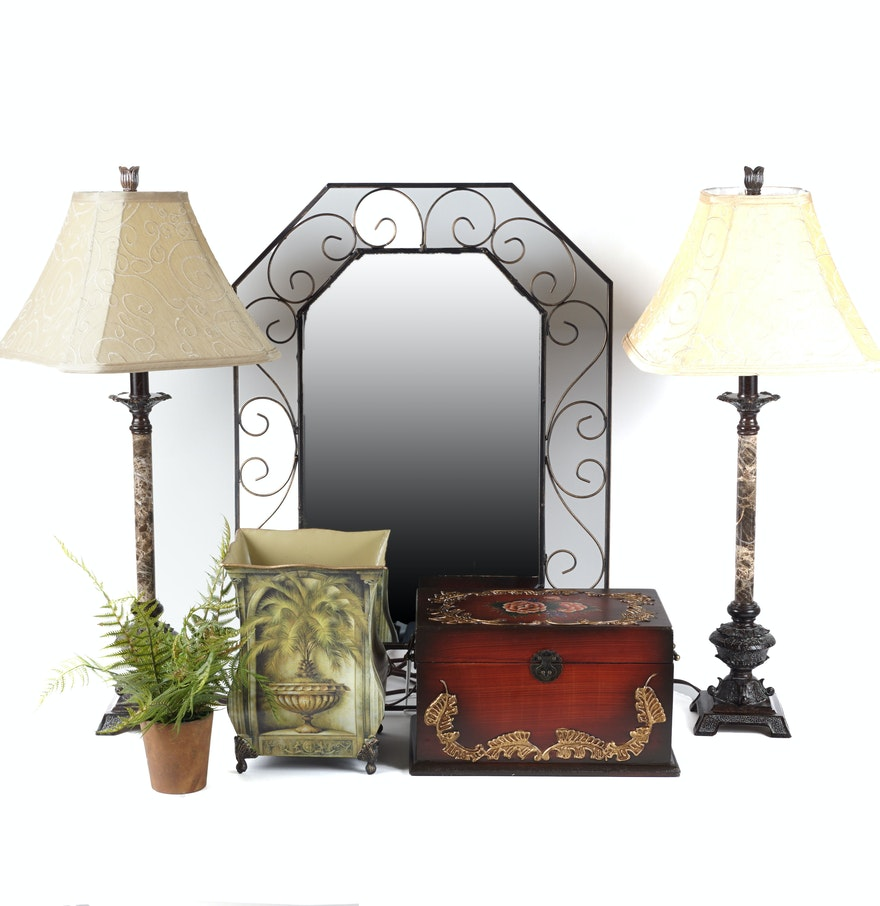 Wall mirror and home decor ebth for Home decorating mirrors