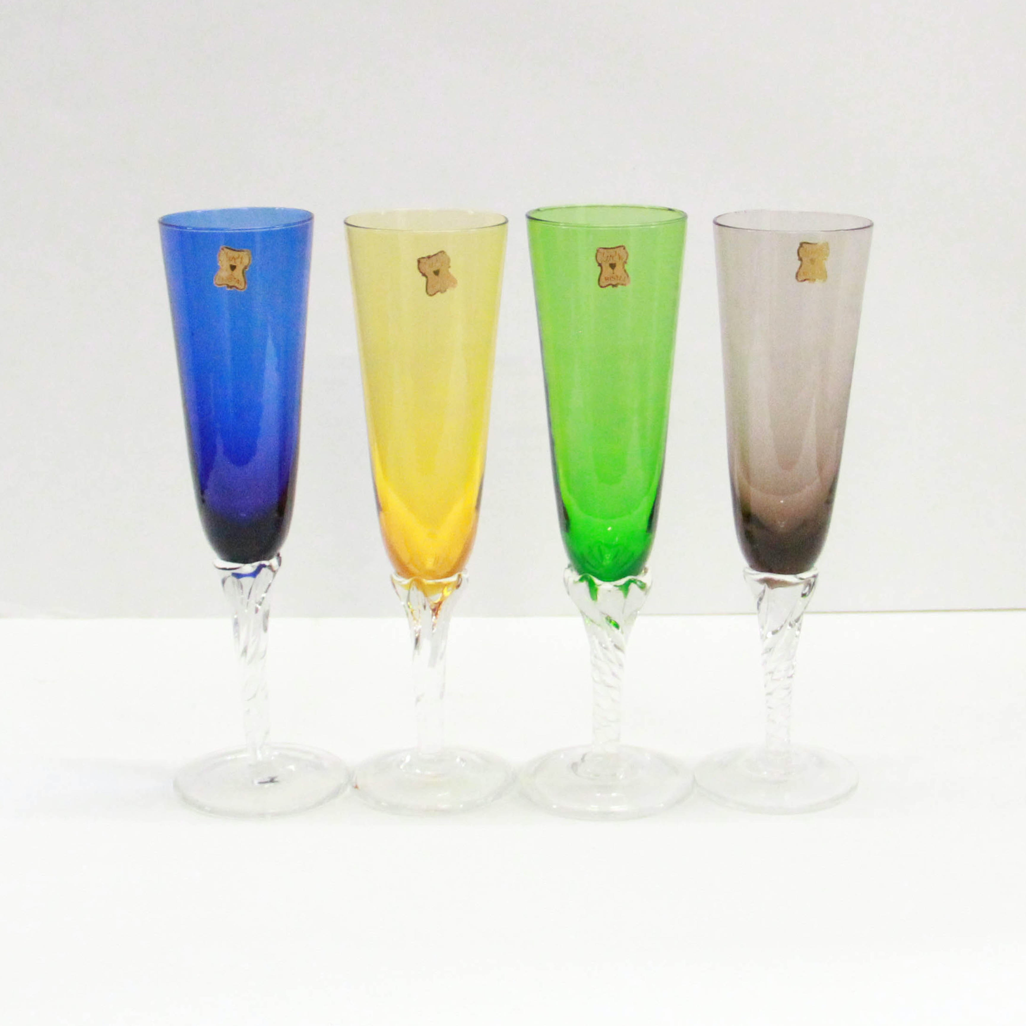 Tinted Glass Flutes