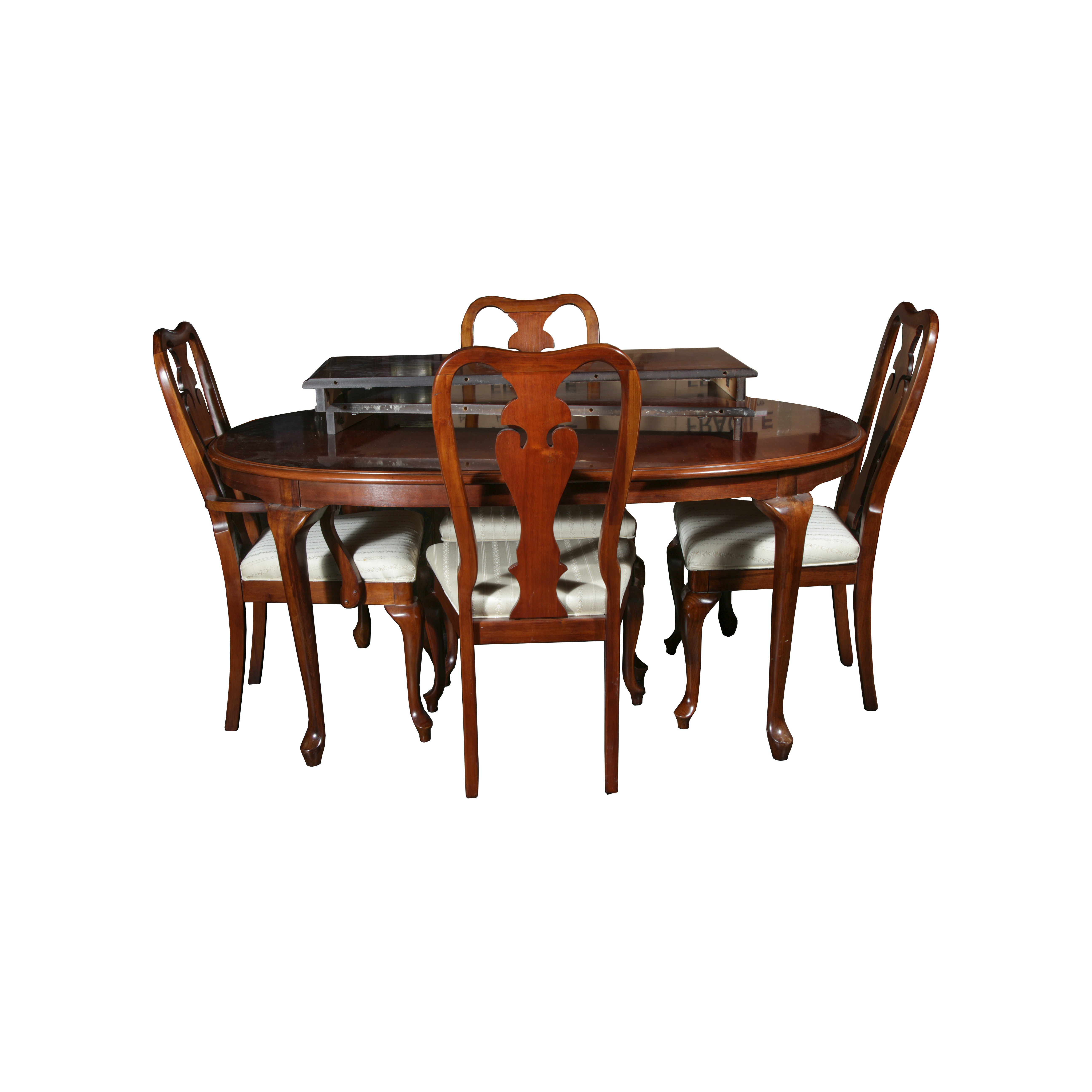 Bernhardt Queen Anne Style Mahogany Dining Table and  : IMG5839JPGixlibrb 11 from www.ebth.com size 880 x 906 jpeg 67kB