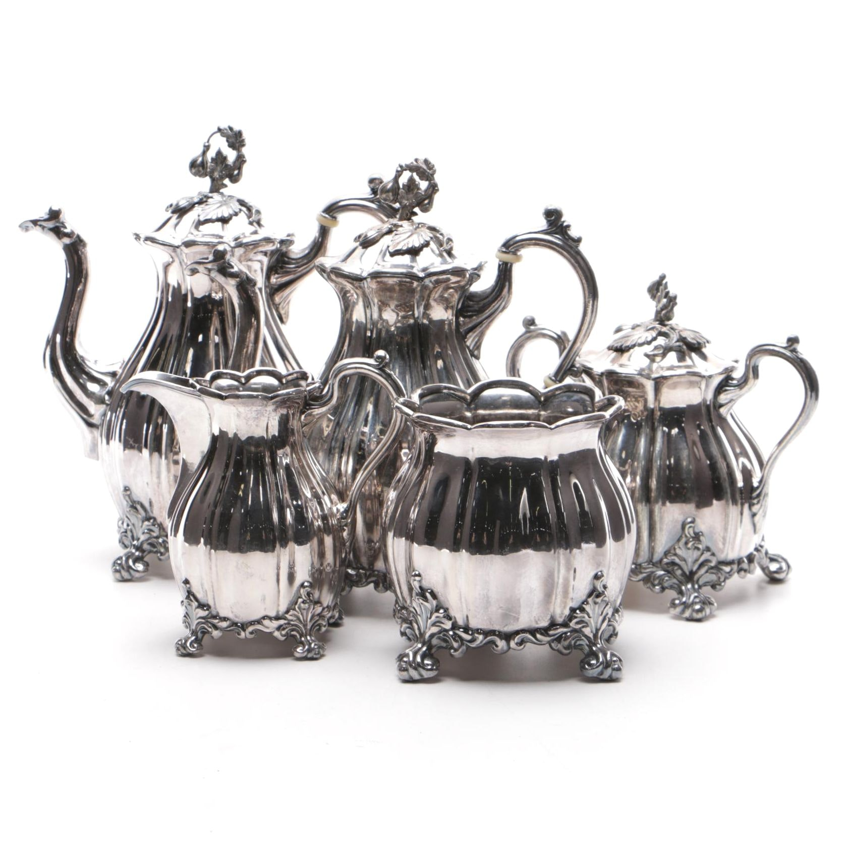 Reed & Barton Silver Plate Tea and Coffee Service