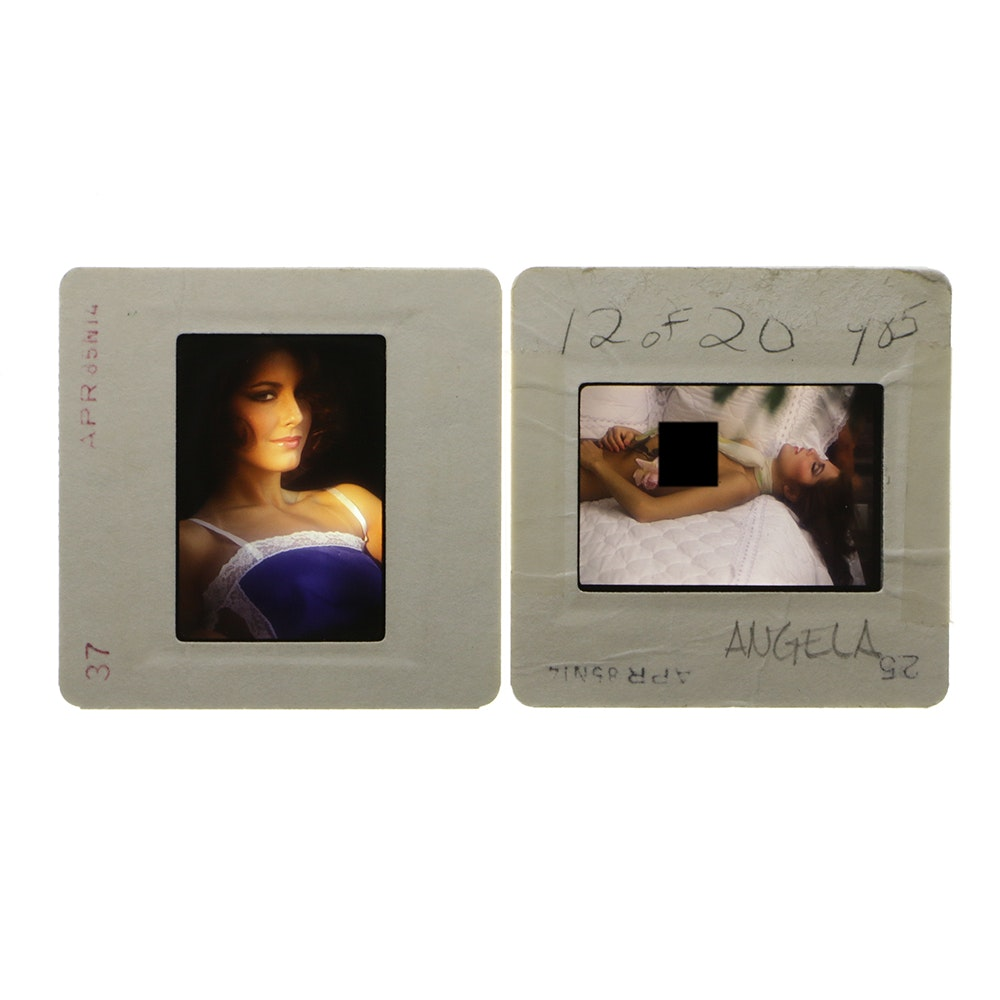 "Original ""Penthouse"" 35mm Slides of Angela Nicholas by Bob Guccione"