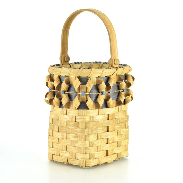 Handcrafted Wicker and Bentwood Basket