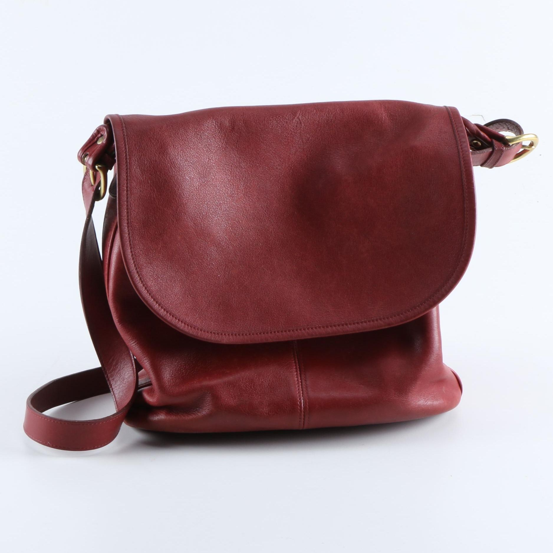 Coach Red Leather Whitney Bag