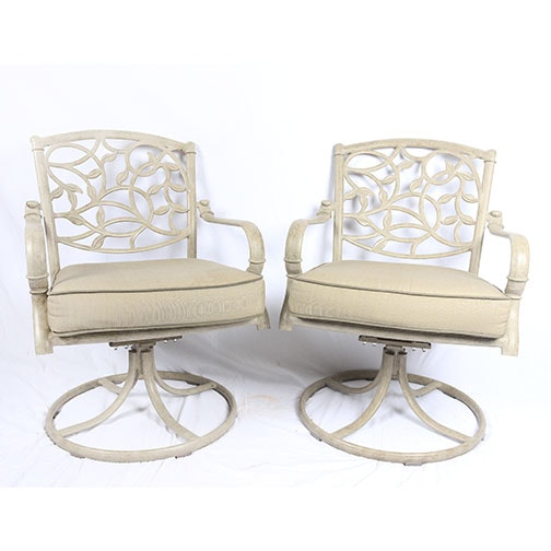 Pair of Hampton Bay Patio Swivel Rocking Chairs