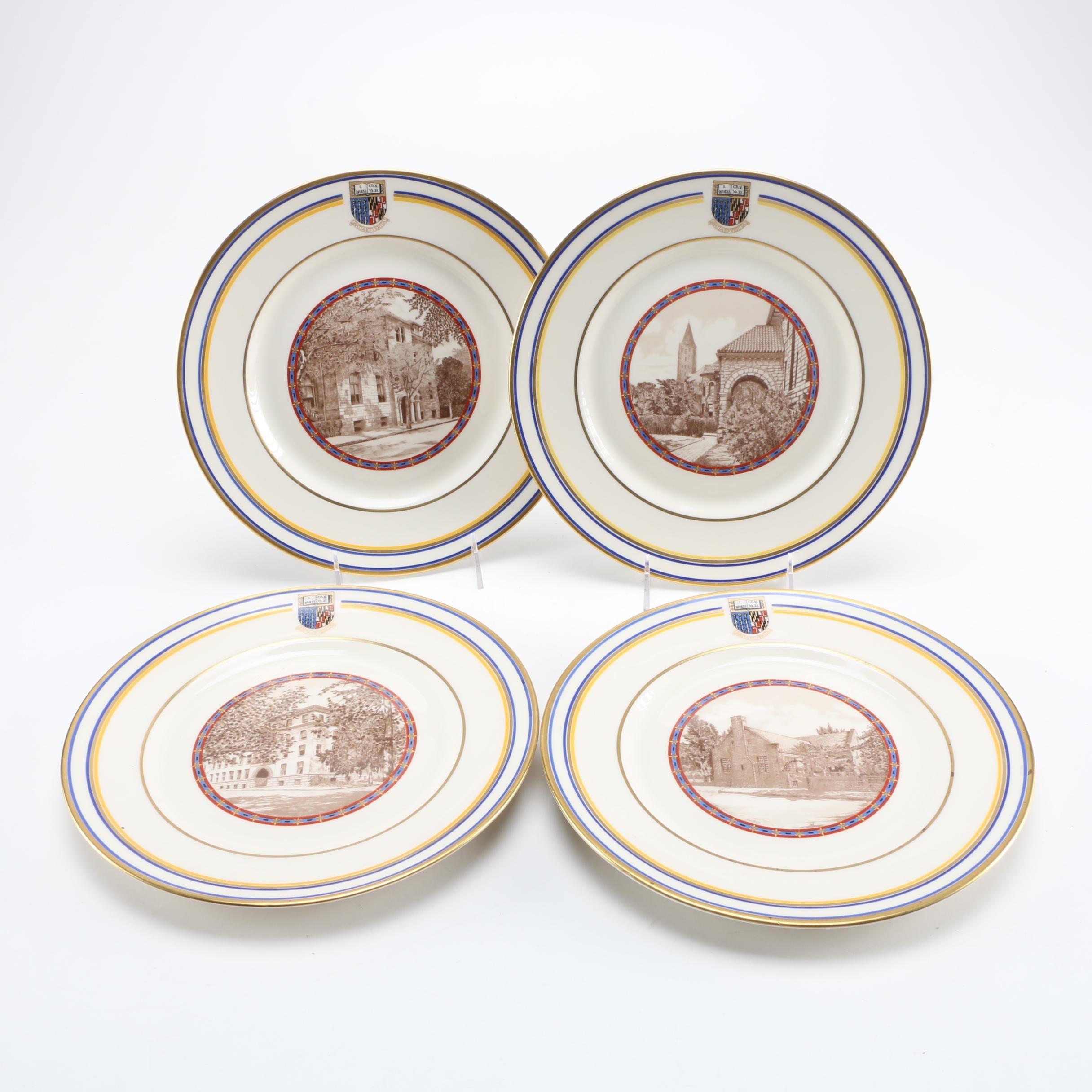 "Lamberton China ""Goucher College 50th Anniversary"" Decorative Plates"