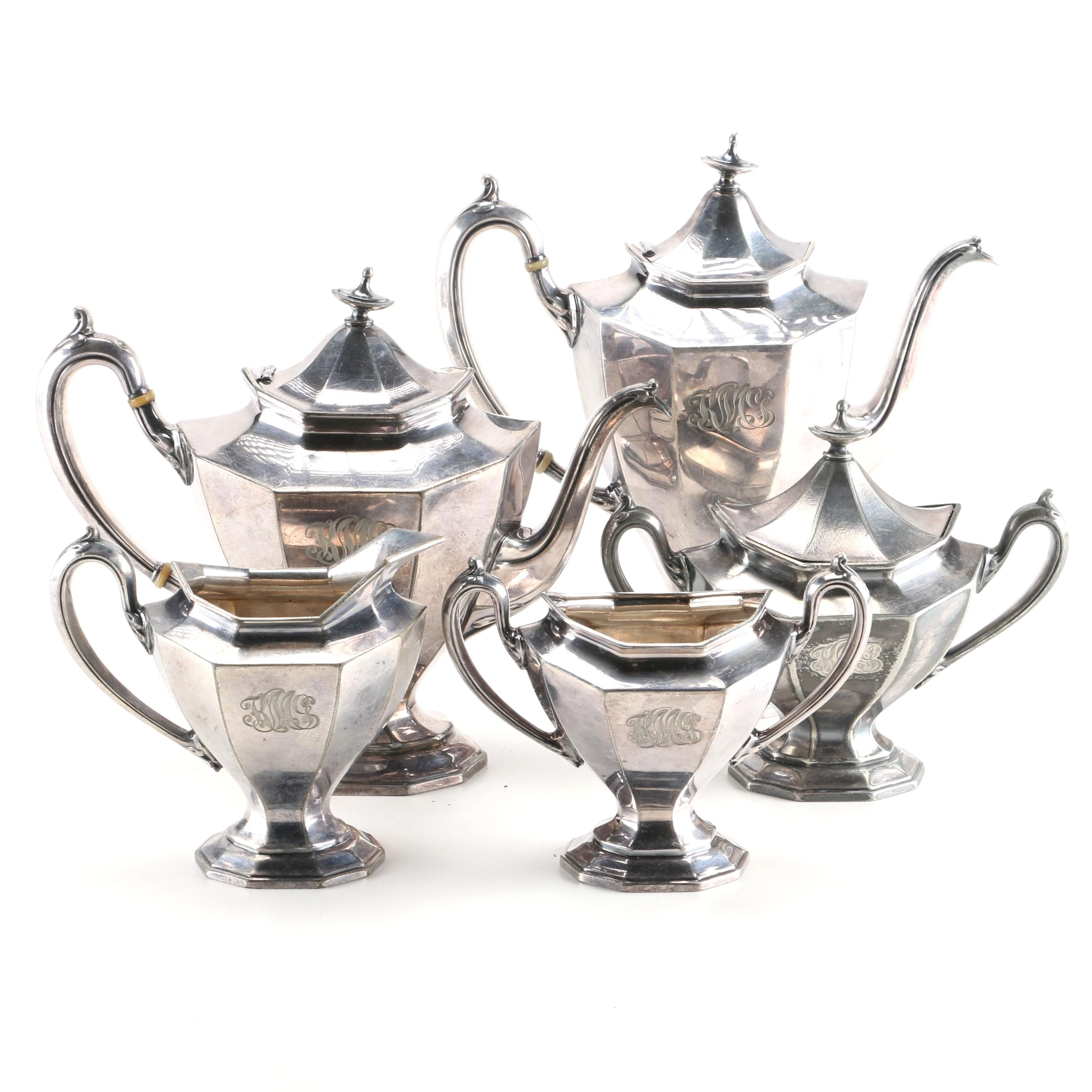 Reed & Barton Silver Plate Coffee and Tea Service