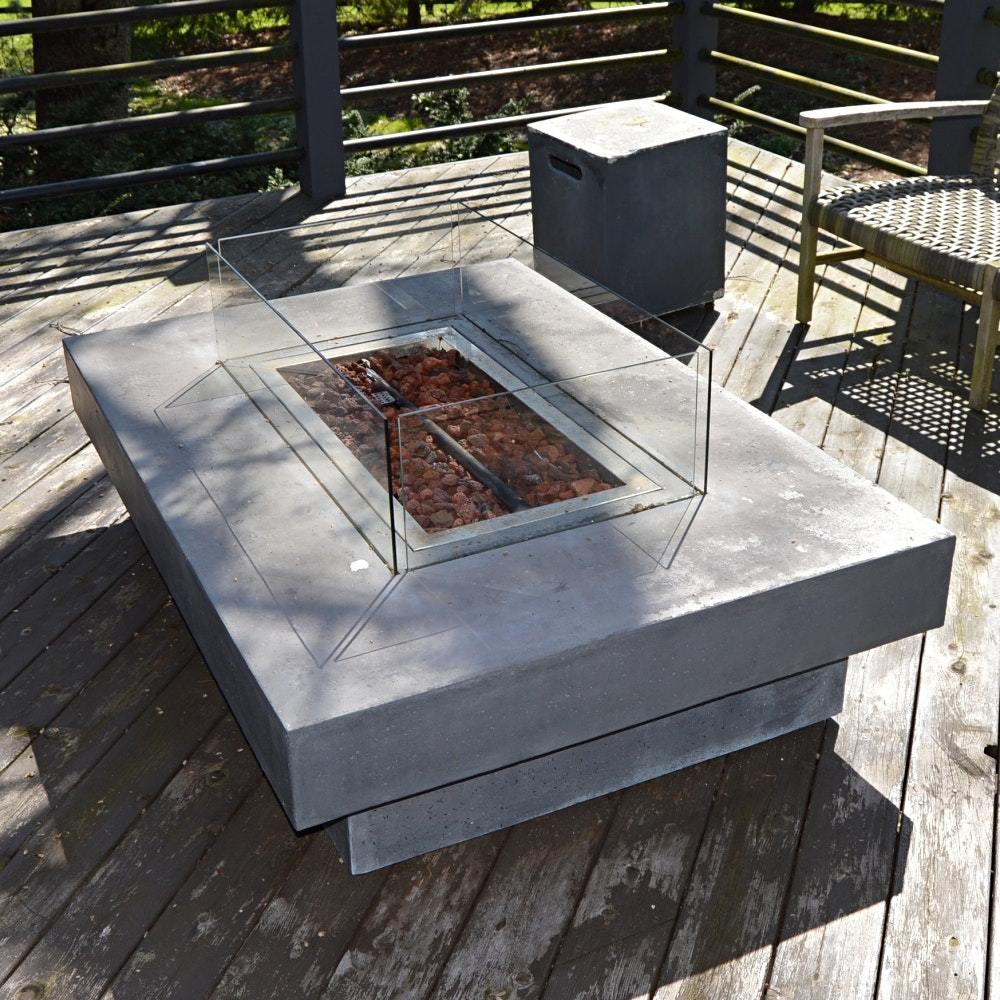 Restoration Hardware Fire Table
