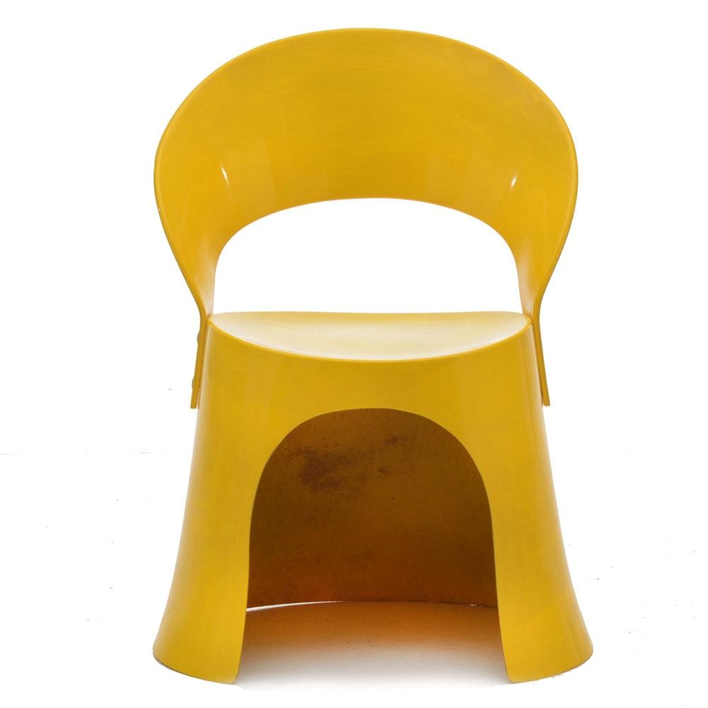 Nanna Ditzel Yellow Fiberglass Chair