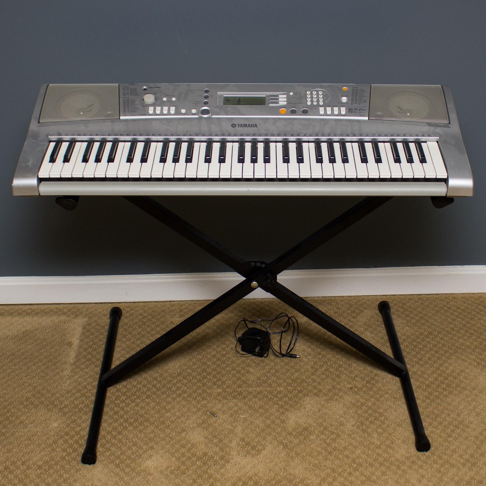 Yamaha Portatone Electric Keyboard and Stand