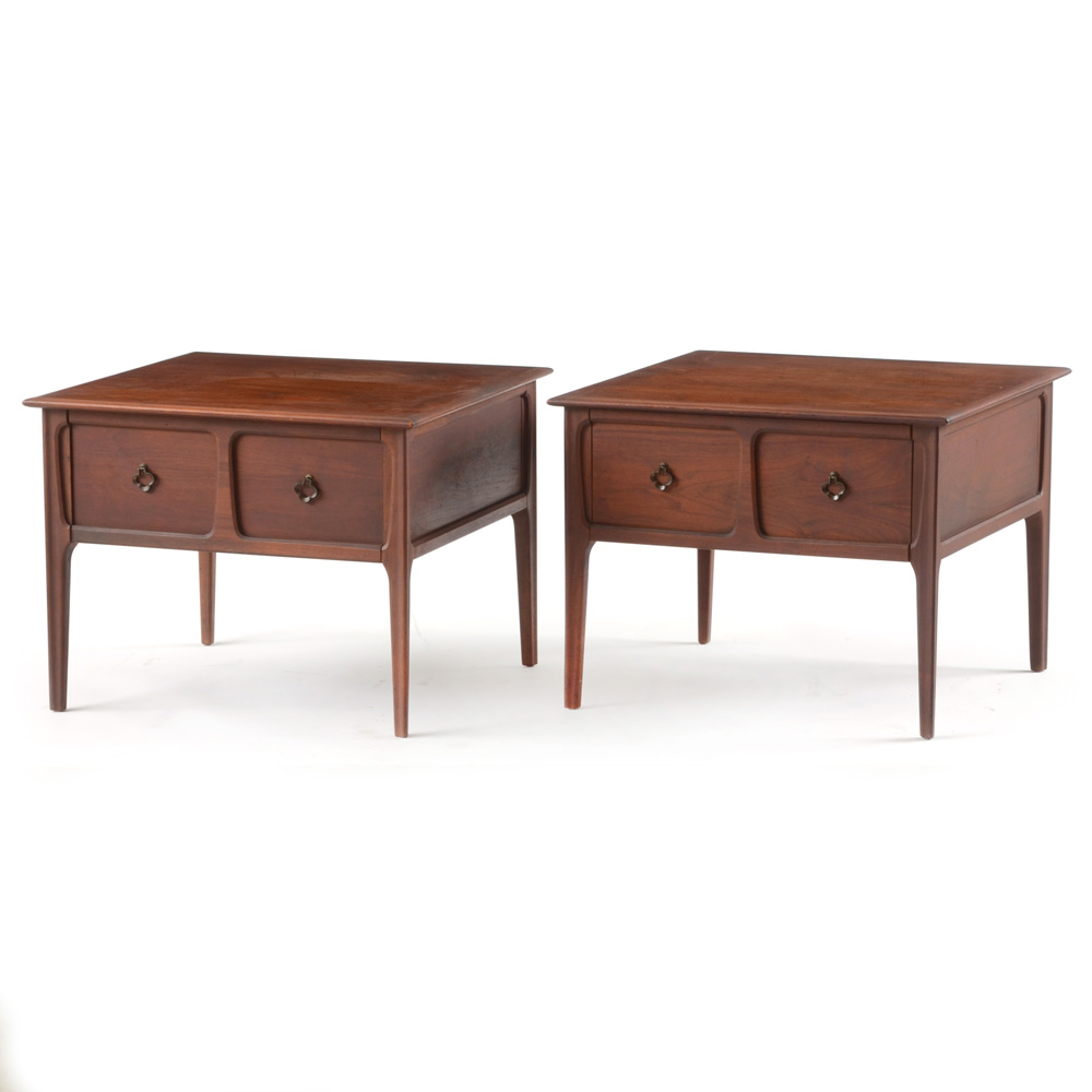 Pair of Mersman Walnut End Tables EBTH