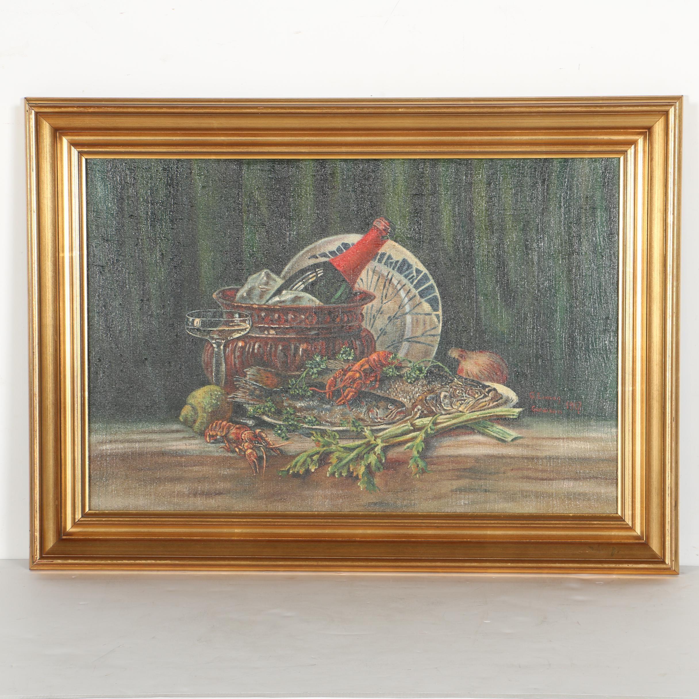 1917 G. Leman Garalson Oil on Canvas