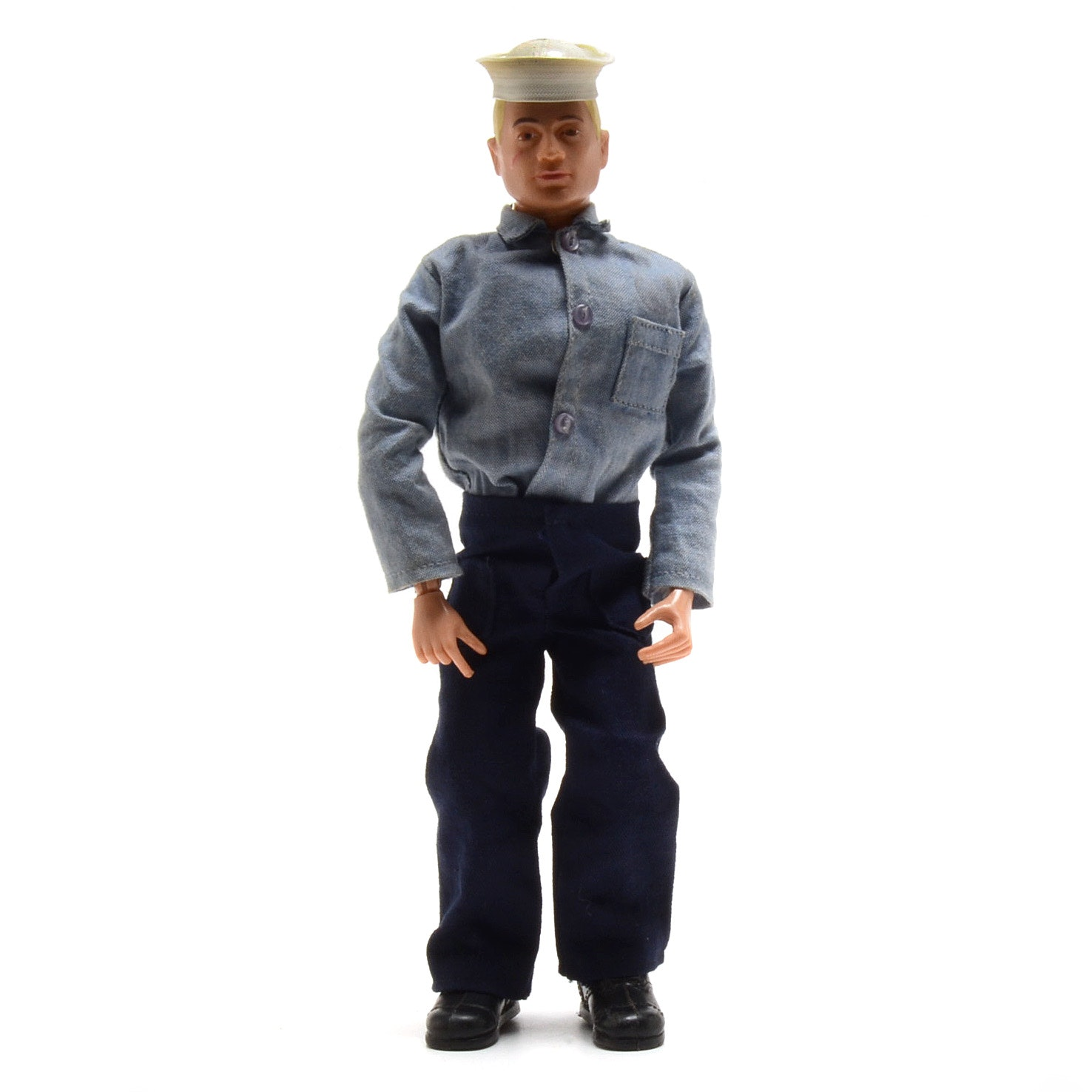 """Vintage 1970s GI Joe """"Action Sailor"""" Original with Box and Inserts"""