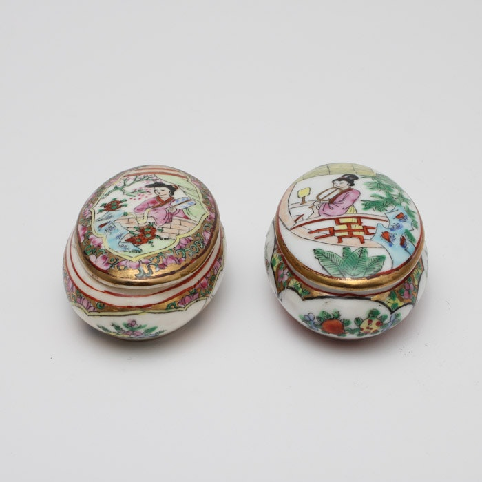 Hand Painted Chinese Trinket Boxes