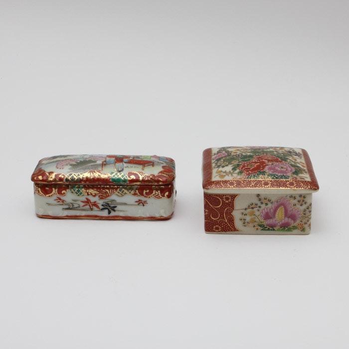 Japanese Satsuma Trinket Boxes