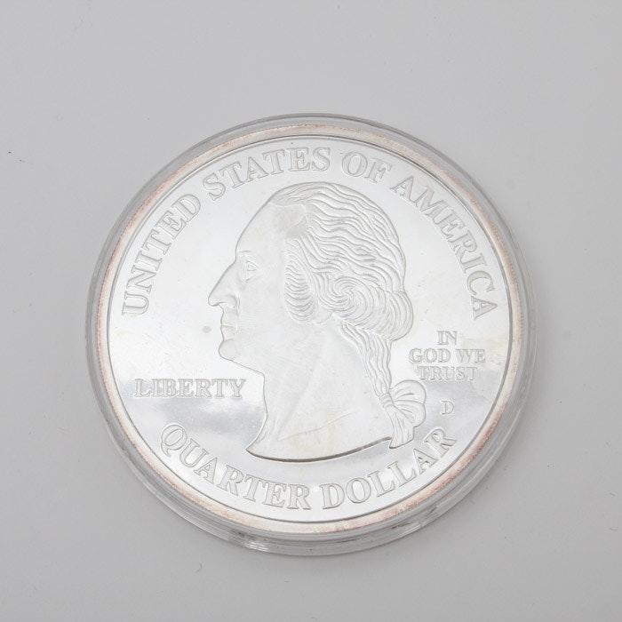 Highland Mint 2000 State Quarter Commemorative .999 Fine Silver Medal