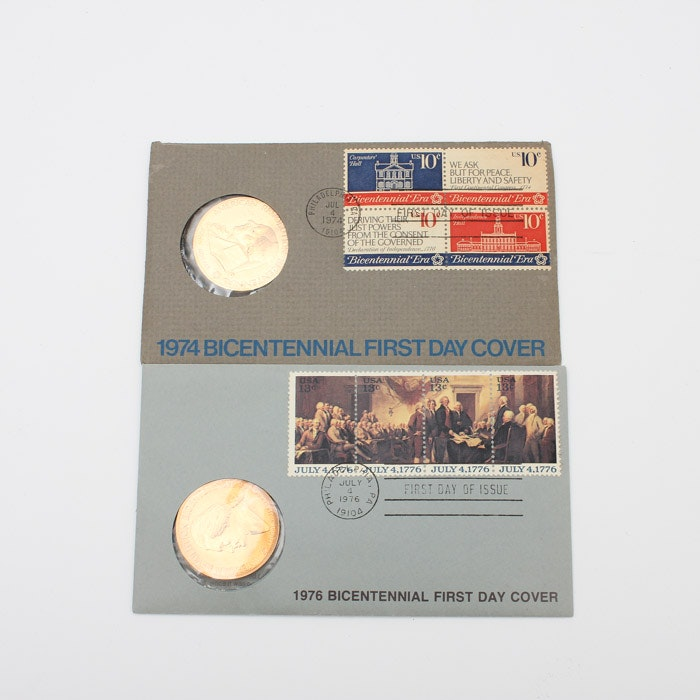 1974 and 1976 Bicentennial First Day Covers