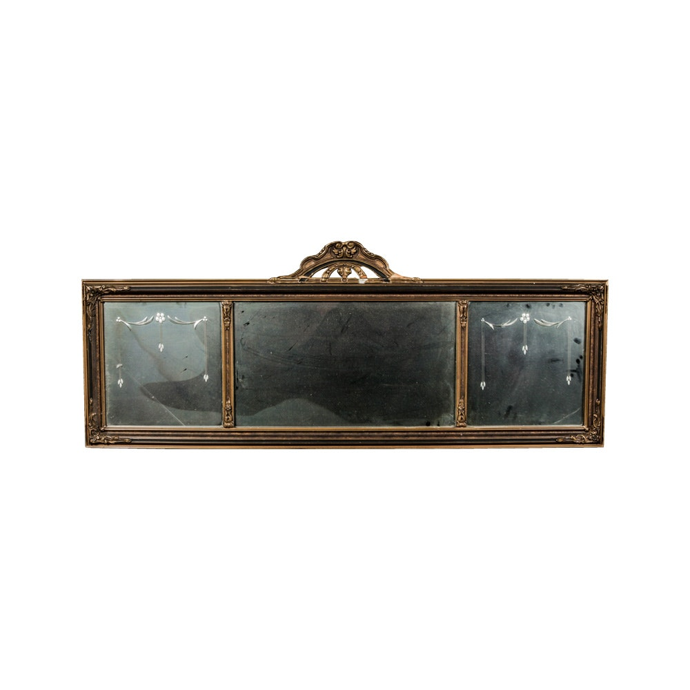 Horizontal Wall Mirror gold framed horizontal wall mirror : ebth