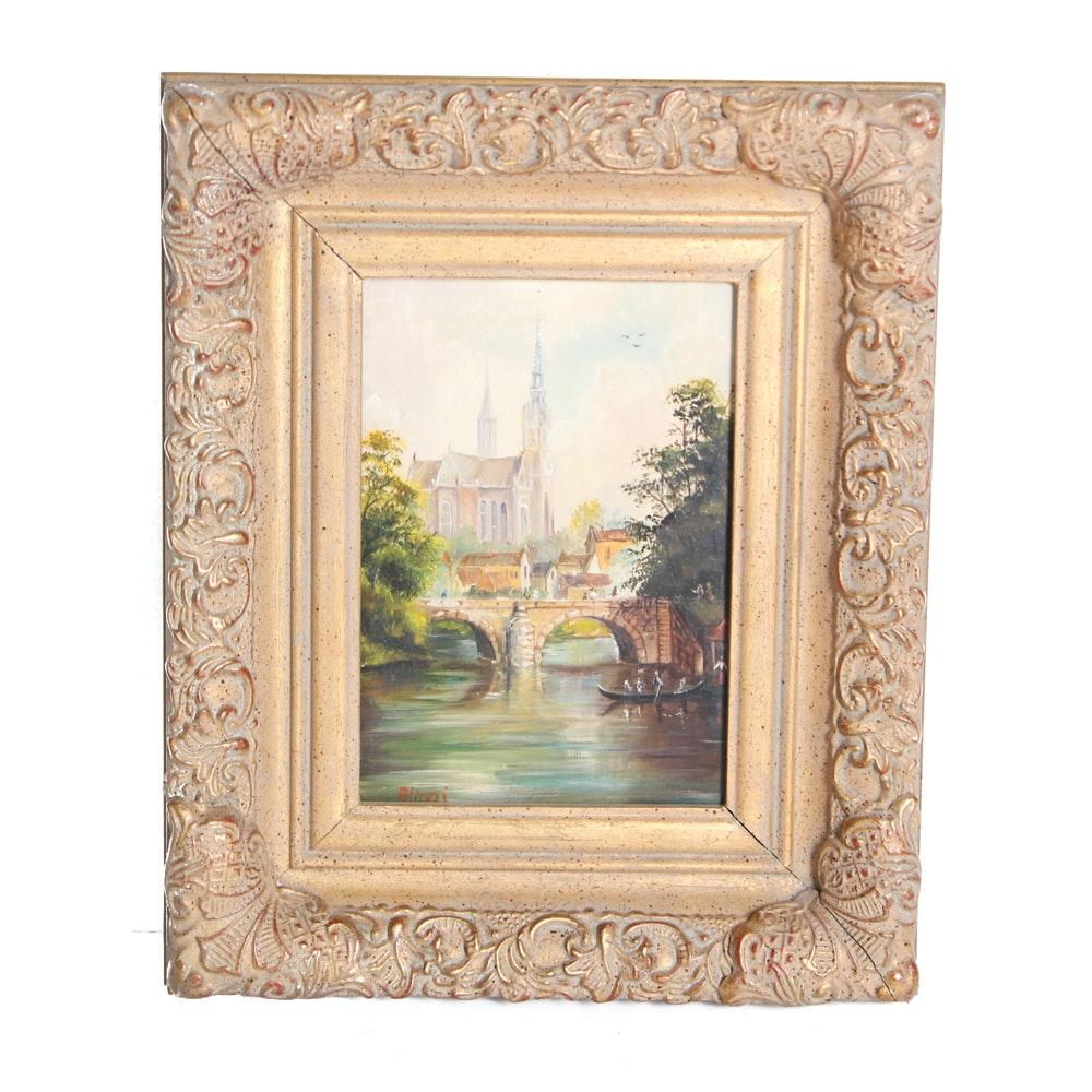 Vincent Blinezi Original Oil on Wood