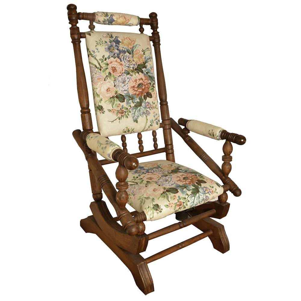 Victorian Style Stationary Rocking Chair ...