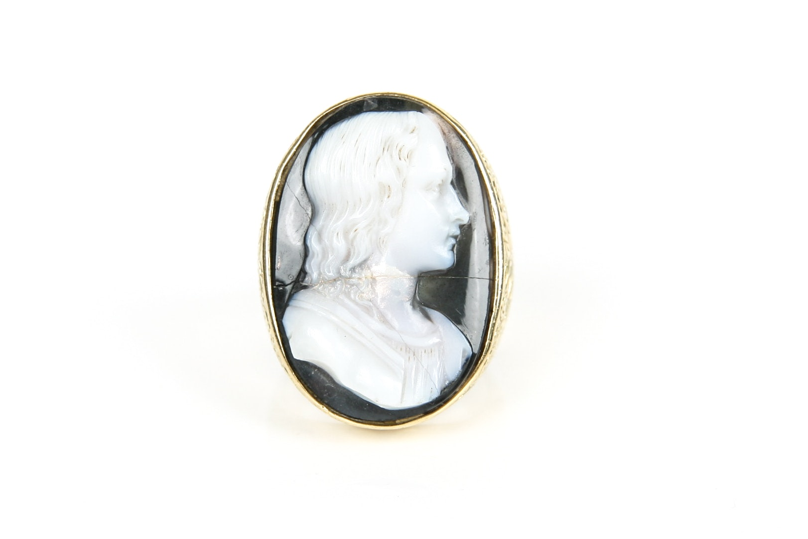 18K Yellow Gold Cameo Ring