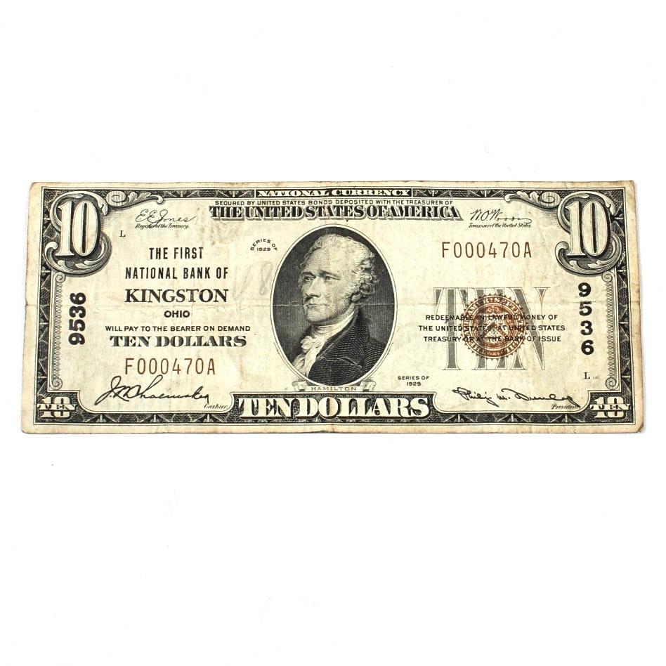 Series 1929 United States Ten Dollar National Bank Note