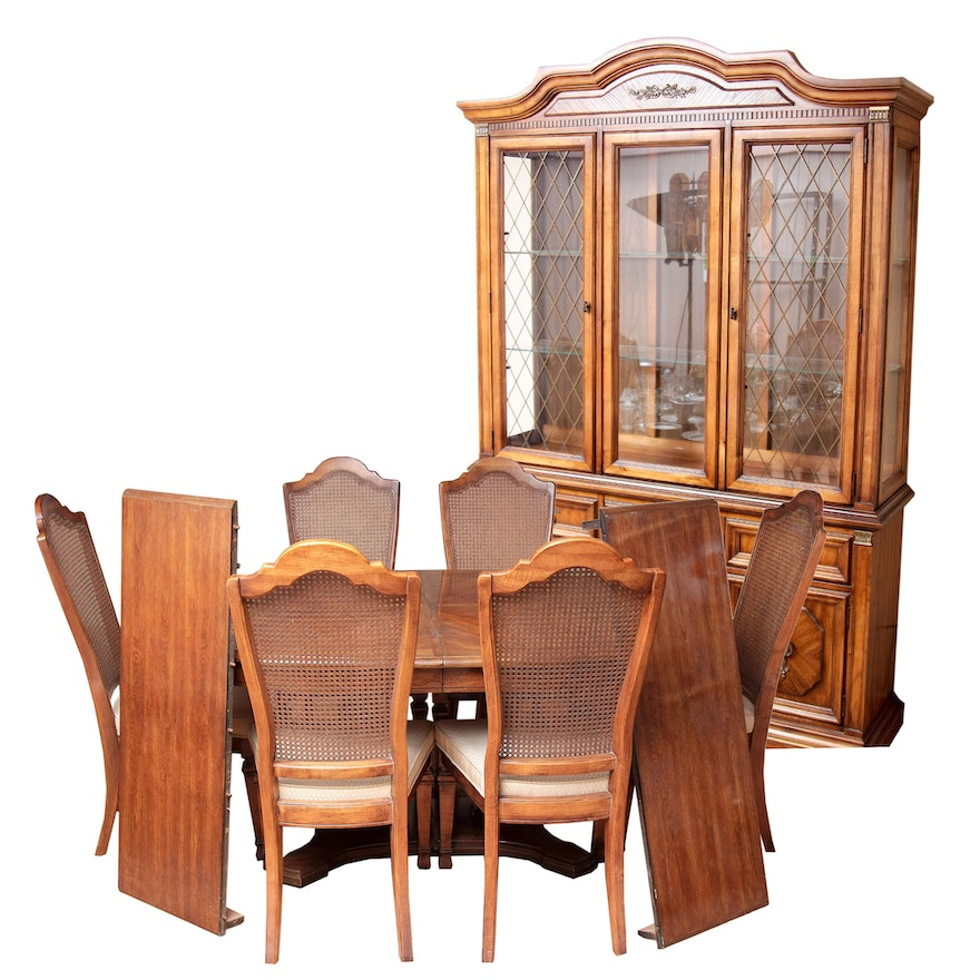 Stanley Furniture China Cabinet With Complementary Dining Table And