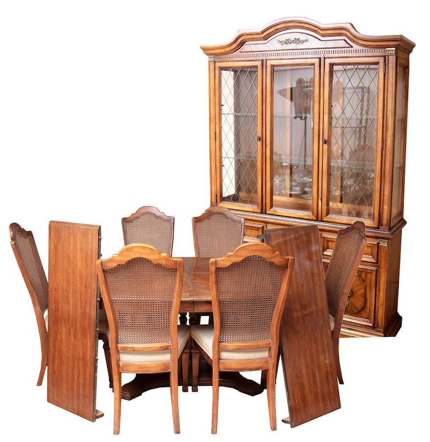 stanley furniture china cabinet with complementary dining