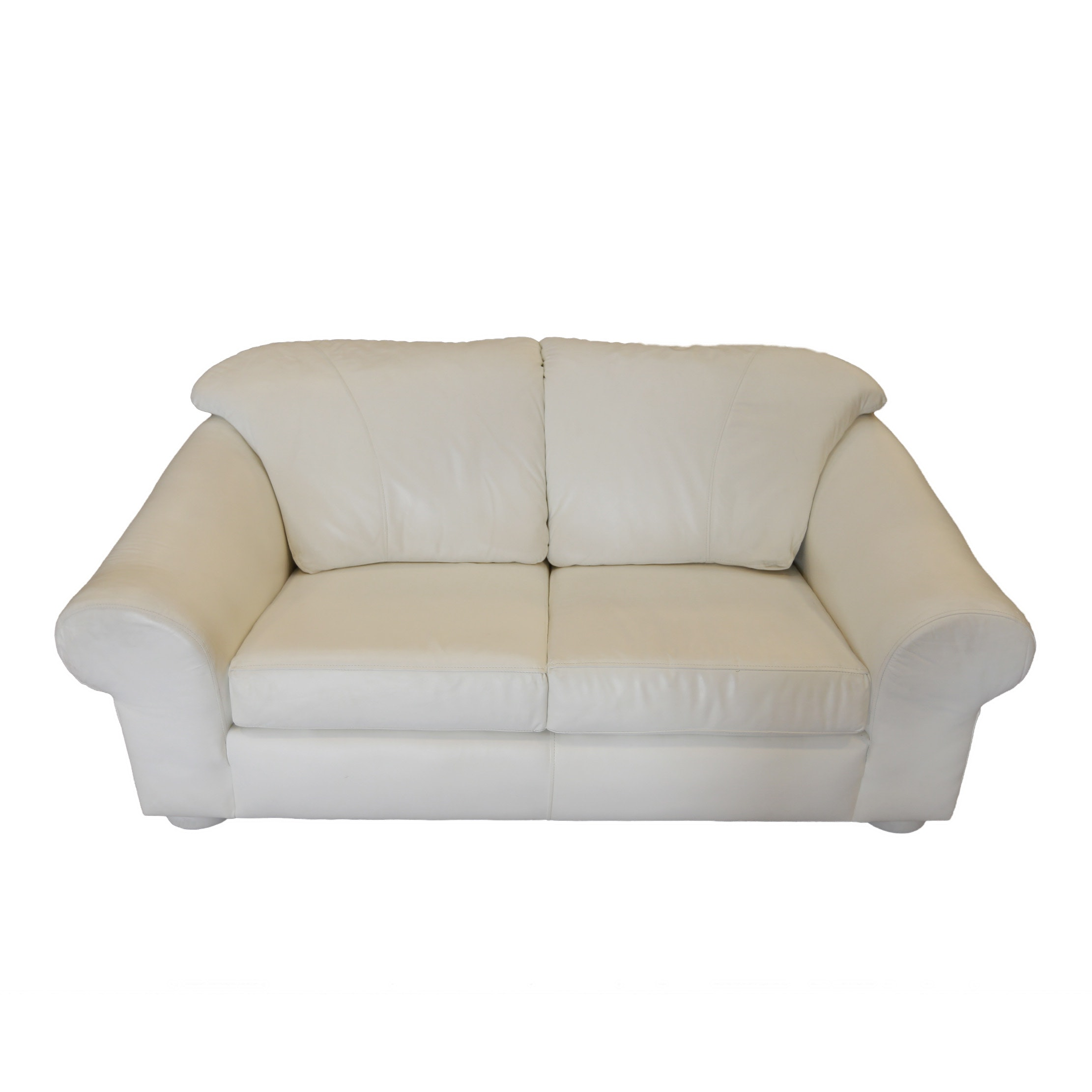 Contemporary White Leather Sofa By Creations Inc Hxqmwyu2