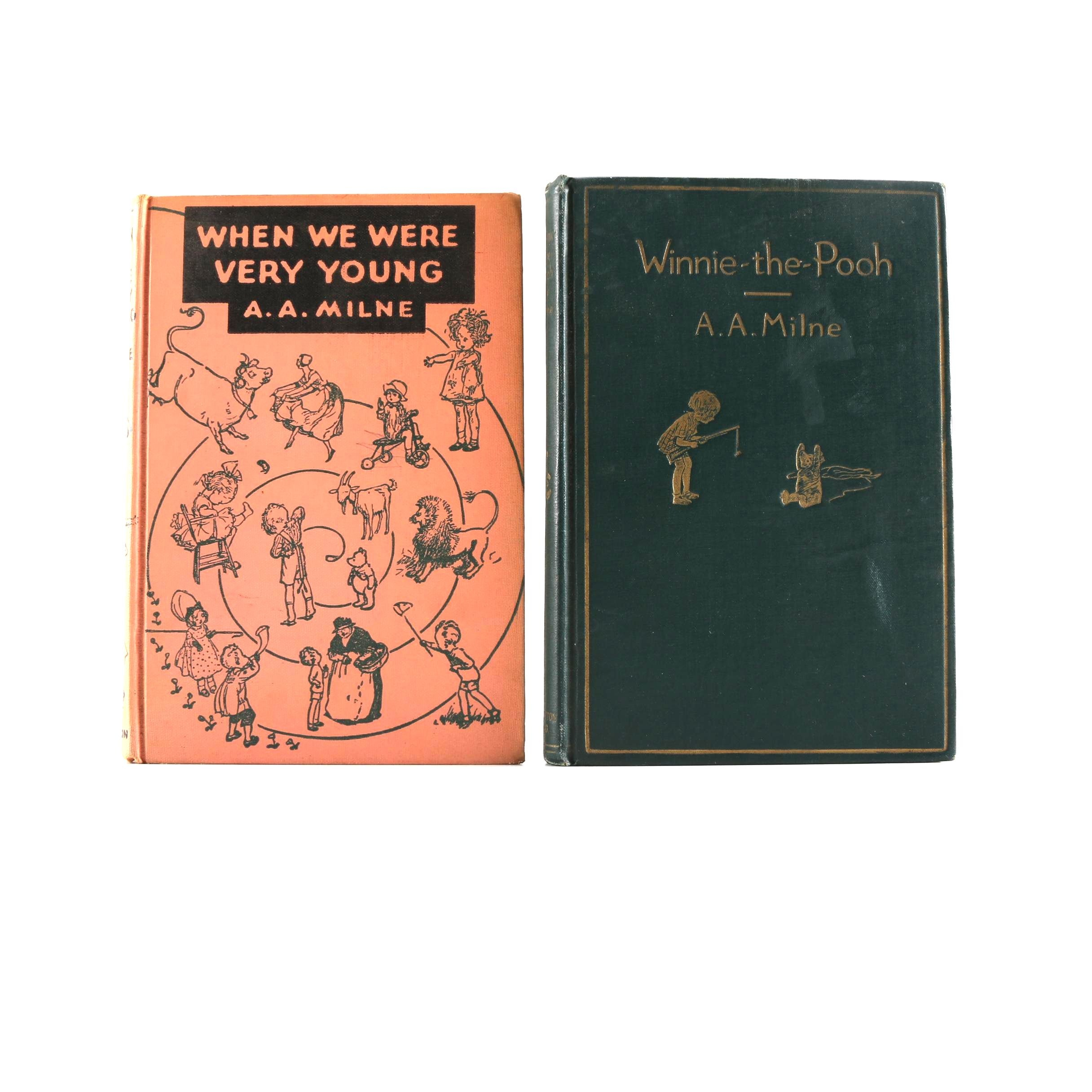 """A. A. Milne Books Including 1926 First American Edition """"Winnie-the-Pooh"""""""